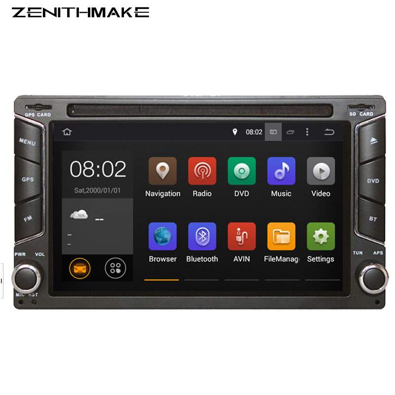 Free shipping QuadCore Android 5.1 car dvd 2din universal Car DVD Player double din Stereo GPS Navigation car radio android 2din(Hong Kong)
