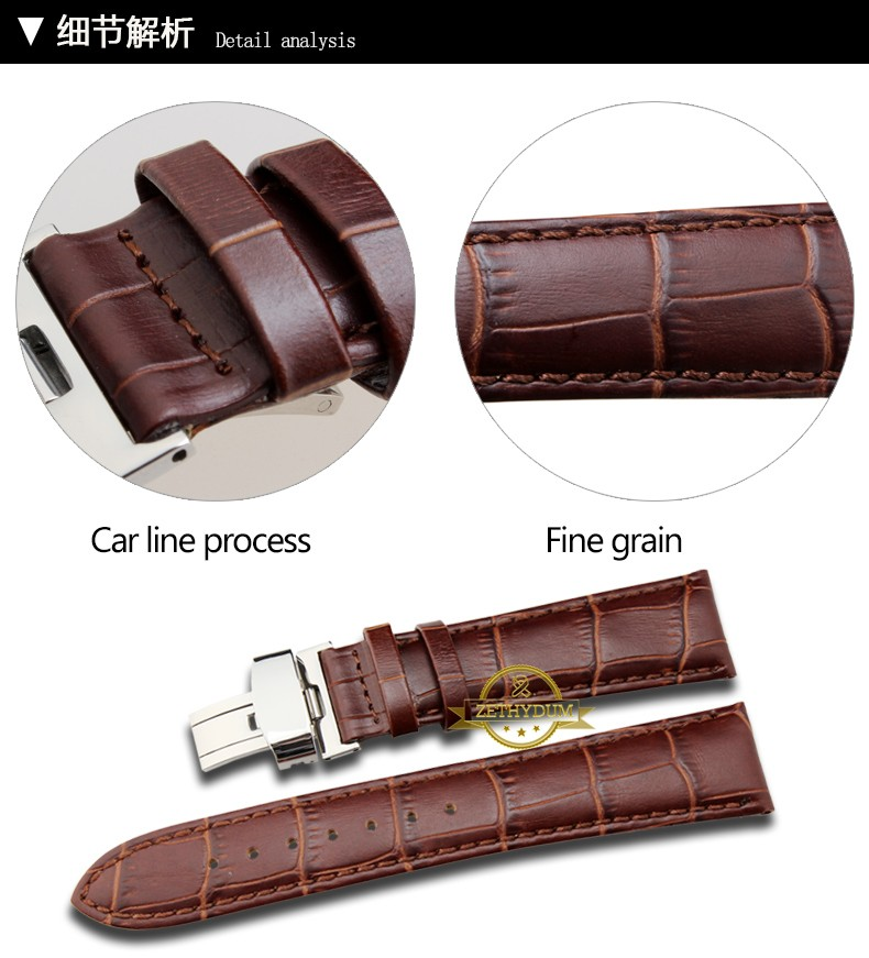 Plain Genuine leather bracelet watch strap womens mens watchband wristwatches band 12 14 16 18 19 20 21 22 23 24mmcolor