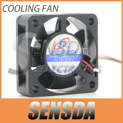 Wholesale DC 12v 2Pin Quiet Mute Mini 3CM 30MM 3010 30x30x10mm Mini Cooling Cooler Fan(China (Mainland))