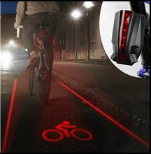 Newest Logo Bicycle Tail Lights with 5LED Laser Light Waterproof Flashlight Bike Bicycle Bike Rear Logo Light Cycling Light(China (Mainland))