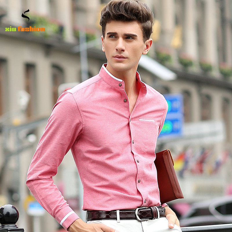 Collarless Dress Shirts For Men