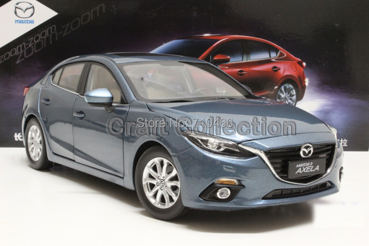 Special Offer Blue 2014 1/18 MAZDA 3 AXELA Sedan Diecast Model Car Mini Model Car Kits 2 Colors Available Limitied Edition(China (Mainland))