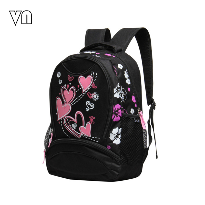 VN Brands 2016 School Bags for Girls Printing Women Backpacks Cheap Shoulder Bag Wholesale Kids Child Backpacks Fashion Designer(China (Mainland))