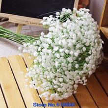 2015 new 2015 hot sell  1 Head Artificial Baby's Breath Gypsophila Silk Flower Party Wedding Home use 4XH2(China (Mainland))