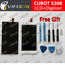 100% Original LCD Display Screen + Touch Screen Assembly Replacement For cubot s308 Smartphone + Free Shipping – White / Black
