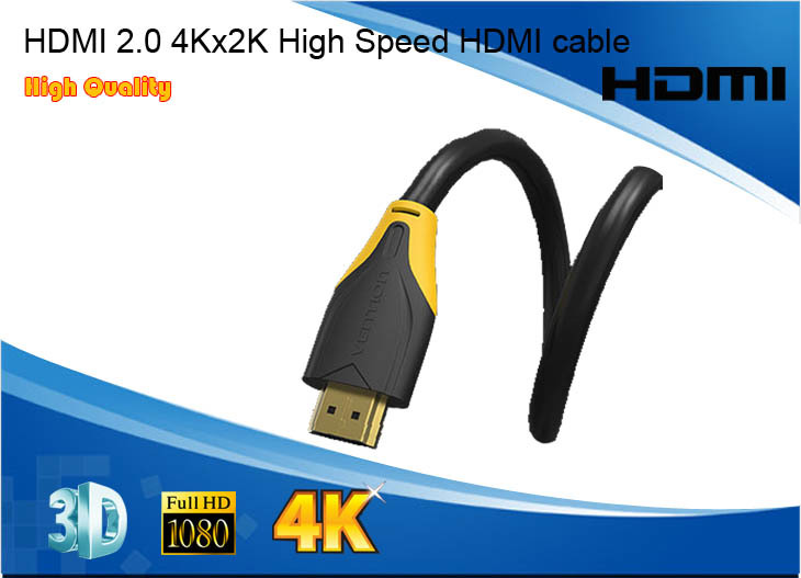 2015 New Arrival Hot sales Free shipping 4Kx2K 3D High speed HDMI cable double molding cabo hdmi flexible 2m 8m(China (Mainland))