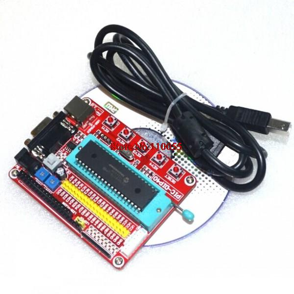 Mini System PIC Development Board + Microchip PIC16F877 PIC16F877A+ USB Cable(China (Mainland))