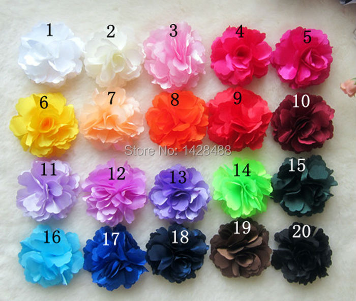 100pcs Sample 20 Color (4inch Hair Flower+ Baby Alligator clips) Kids Flower Clips Fashion Headwear Girl Hair Ornament(China (Mainland))