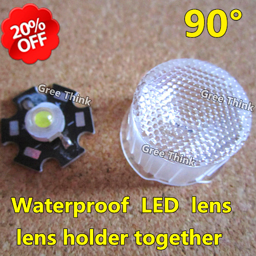 Free shipping+200pcs/lot,LED lens 90degree,bead surface,waterproof LED lens with lens holder together,use for  high power LEDs.<br><br>Aliexpress