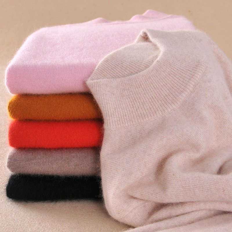 2017 High-quality Cashmere Sweaters Women Fashion Autumn Winter Female Soft and Comfortable Warm Slim Cashmere Pullovers(China (Mainland))