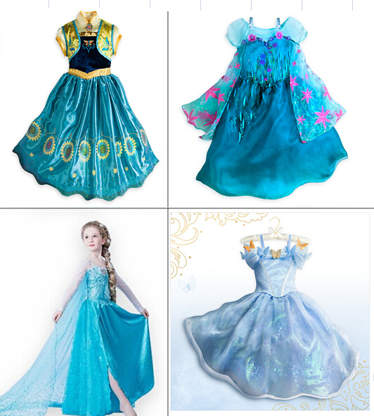 1PCS,2015 new Cinderella girls dress chidlren princess dresses Costume kids girls Dress party dreee,baby vestidos,Free shipping(China (Mainland))
