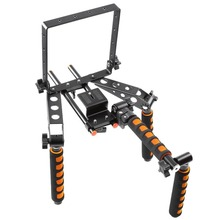 "Buy Foldable Shoulder Rig Support Mount DSLR Stabilizer Kit Canon Nikon Lumix Sony Pentax Olympus 1/4"" Screw Camera Bracket for $89.00 in AliExpress store"