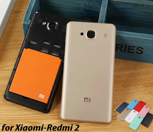 Case Xiaomi Redmi 2 Redmi2 Redrice2 Hongmi2 Ultra Thin Slim Battery colorful Back Cover Matte/UV Cases - HengMei Technology Co.,Ltd store