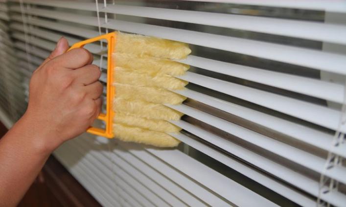 1Pcs Shutter Venetian Blind Brush Slat Window Air Conditioner Blinds Duster Dirt Cleaner New hot sale GYH(China (Mainland))