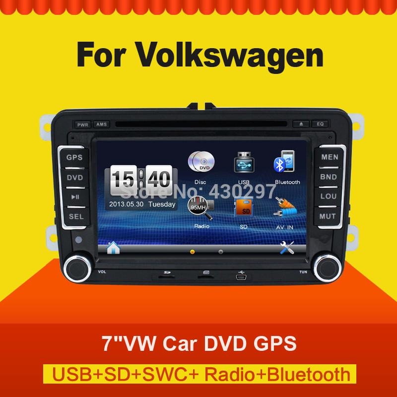 "New 7"" 2din Car DVD GPS player for VW GOLF 4 GOLF 5 6 POLO PASSATCC JETTA TIGUAN TOURAN EOS SHARAN SCIROCCO T5 CADDY stereo audi(China (Mainland))"