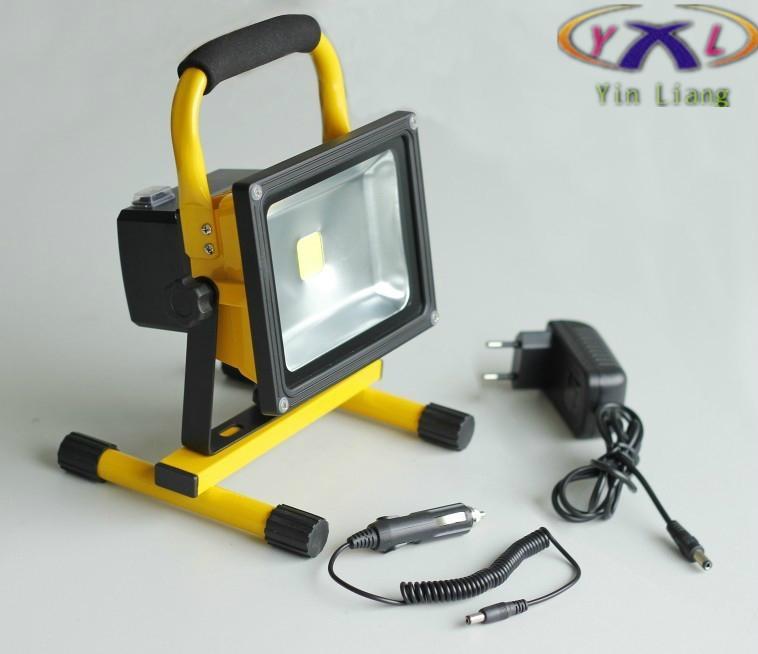 Здесь можно купить  Wholesale 10W Rechargeable Led Flood Light, Portable Emergency Outdoor Working Light Waterproof 900Lm High Brightness  Свет и освещение