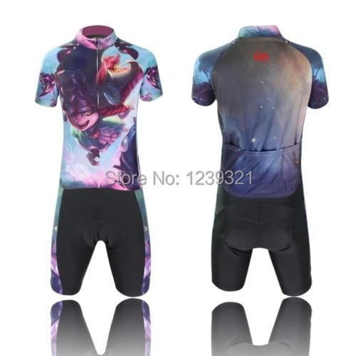 New Lower Price Cycling Bike Short Sleeve Clothing Set Bicycle Children Jersey + (Bib) Shorts Free Shipping(China (Mainland))