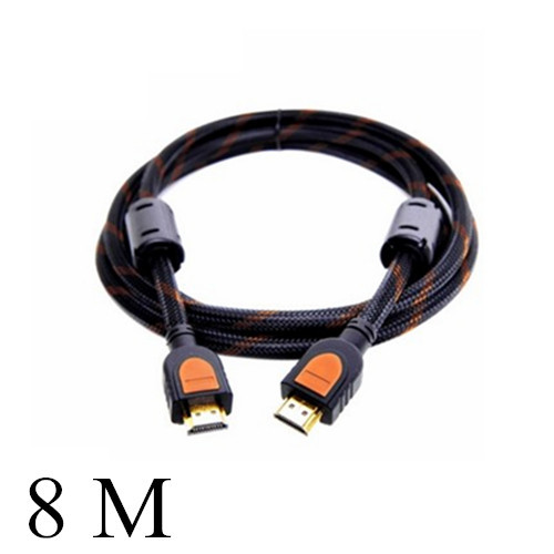 New 8M hdmi cable hd 1.4 1080p support 3d hdtv computer to tv line connecting adapter #8019(China (Mainland))