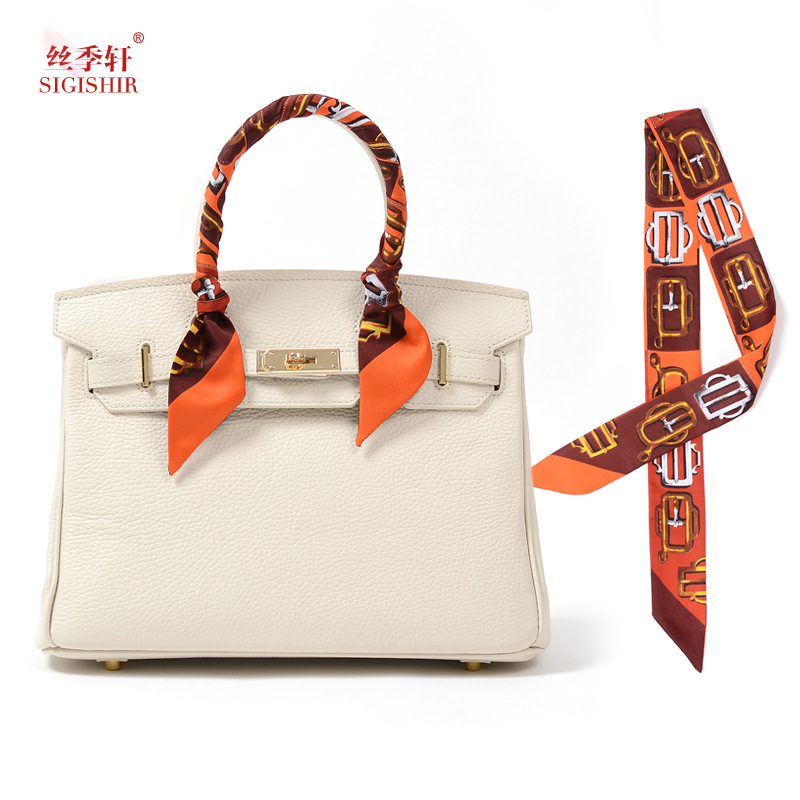 8 color 2015 New Fashion Headband 100*5cm silk imitation Scarf Print Belt patchwork scarves handbags bandage women Twilly(China (Mainland))
