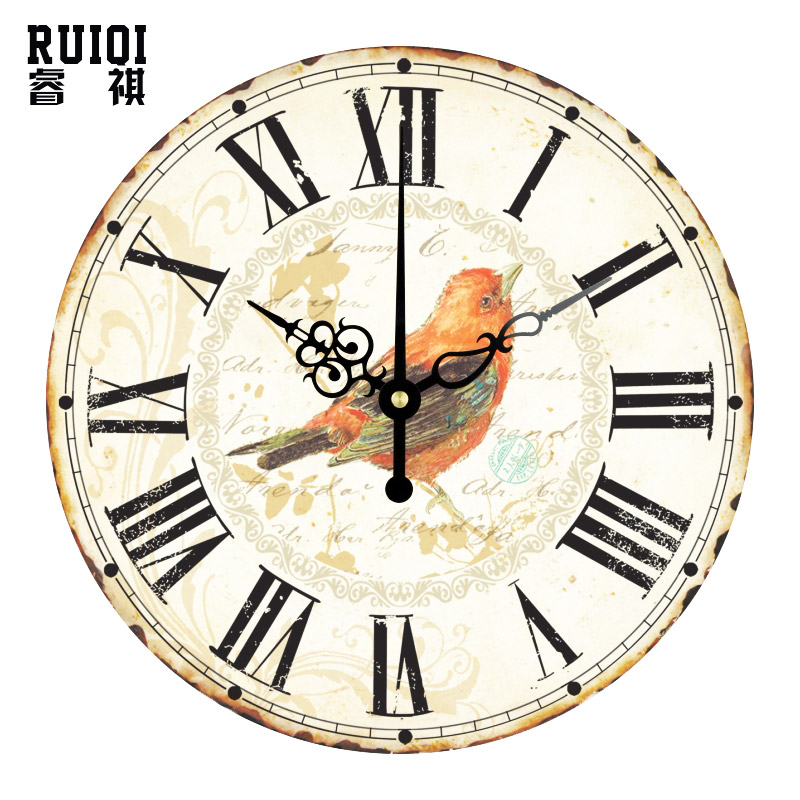 Buy Stylish Alphabet Decorative Wall Clocks White