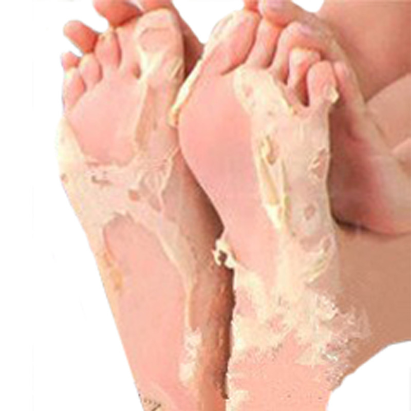 2pairs=4pcs Remove Dead Skin Foot Skin Smooth Exfoliating Feet Mask Foot Care Socks For Pedicure Sosu Skin Care(China (Mainland))