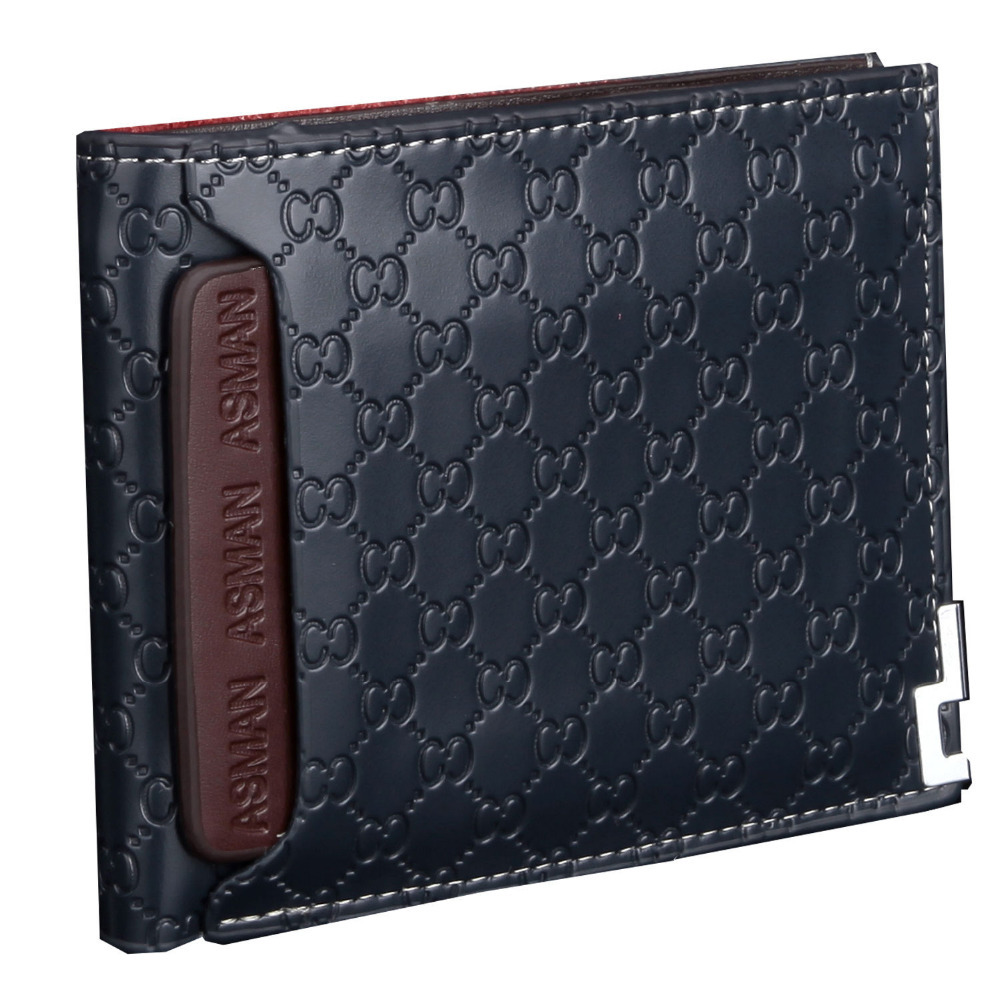2015 new designer famous brand short leather men wallets for men's wallet luxury pu purse carteira masculina purses(China (Mainland))