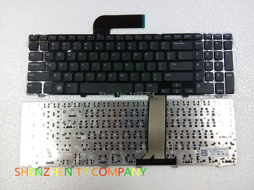 Brand New laptop keyboard  ForDELL Dell Inspiron 15R N5110 M5110 5110 Service US version BLACK  colour US Layout