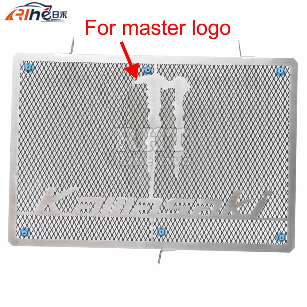 Motorcycle Accessories Aluminum radiator guard protector grille grill cover for kawasaki z1000 2003 2004 2005 2006 z750 2008 07