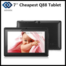 Cheapest 7 inch Android Tablet Quad Core Q88 Allwinner A23/A33  Android 4.4 Dual Camera WIFI OTG Bluetooth Capacitive Screen(China (Mainland))