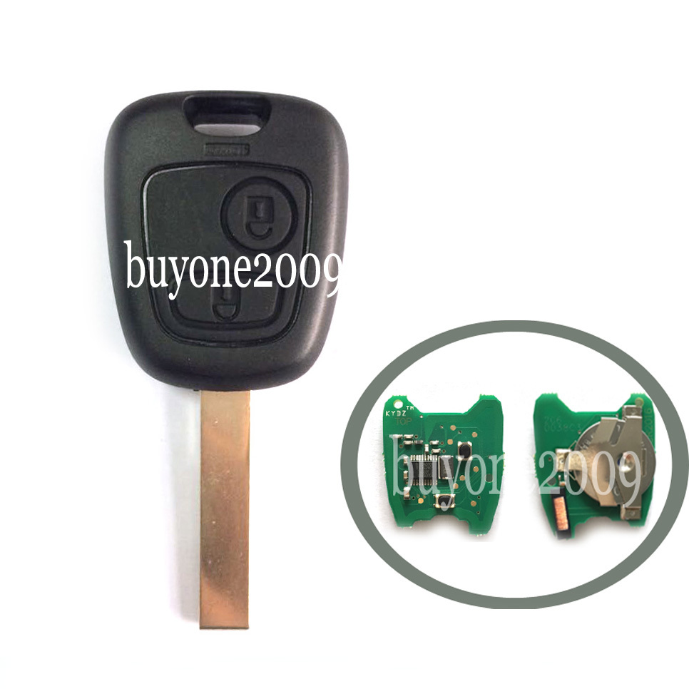 Remote Key Fob For Peugeot 307 2 Button 433MHz+Uncut Blank Blade With ID46 Chip HU83 Blade<br><br>Aliexpress