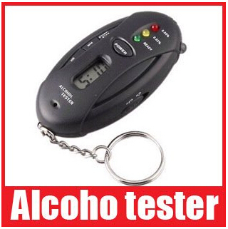 2pcs/lot Alcohol Analyzer Breath Tester Breathalyzer Keychain Digital LCD Single-Screen, Free shipping+Drop shipping(China (Mainland))
