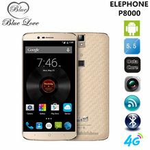 Original Elephone P8000 5.5 inch FHD 4G LTE mobile phone MTK6753 64bit Octa Core 3GB RAM 13MP Android 5.1 Fingerprint ID(China (Mainland))