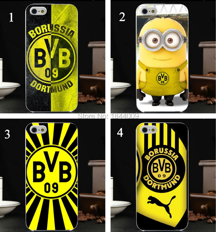 Borussia Dortmund football club stickers Fox racing Style Hard Skin Transparent Cover Case for iphone 5 5s 4 4S 5c(China (Mainland))