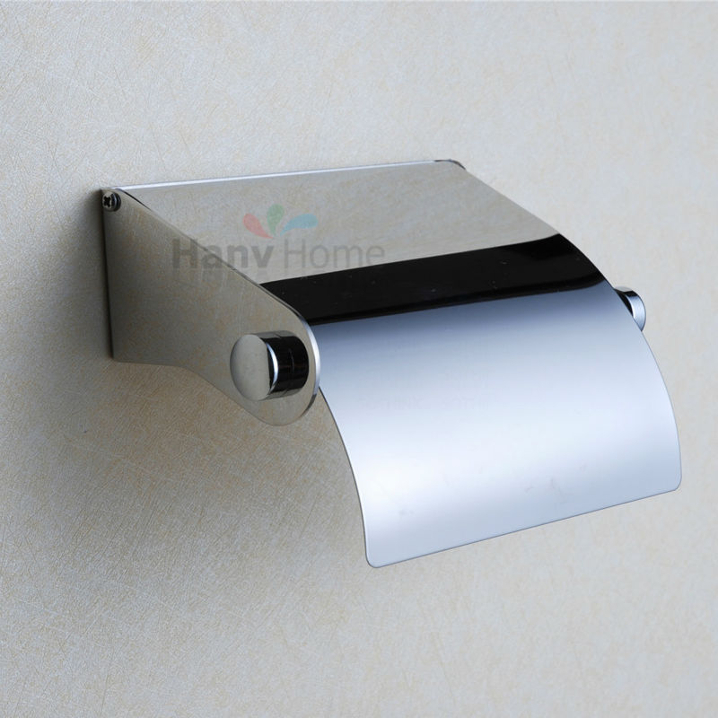 304 stainless steel toilet paper box roll holder toilet for Bathroom accessories toilet roll holder