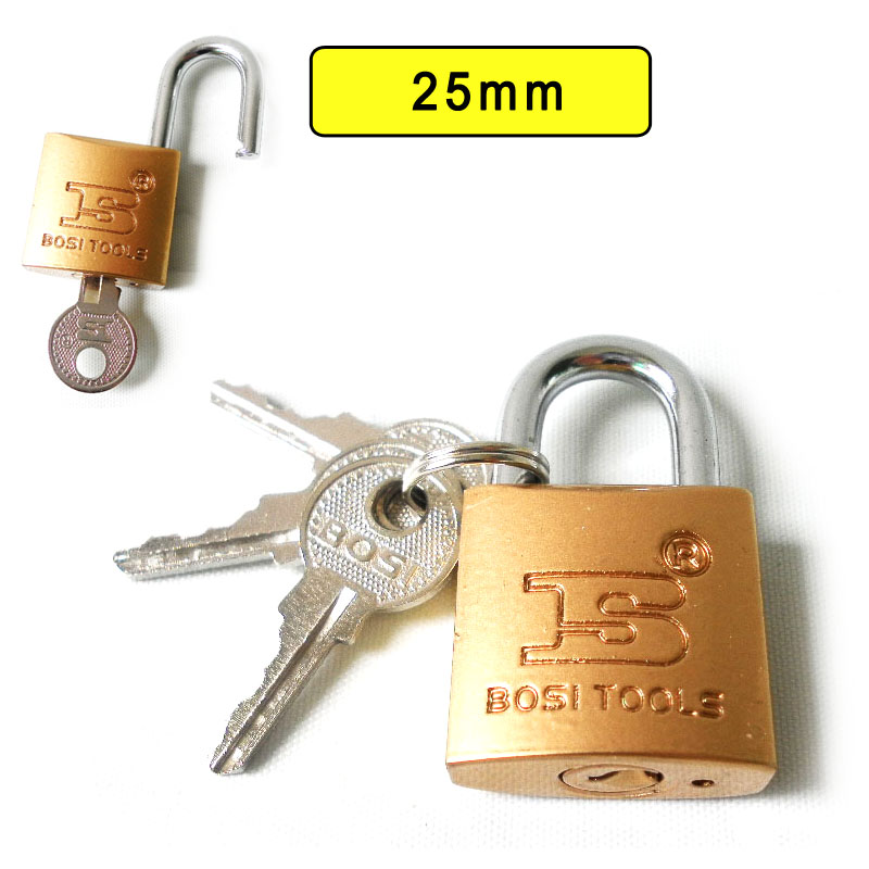 BOSI 25mm case bag padlock master lock with 3pc keys(China (Mainland))