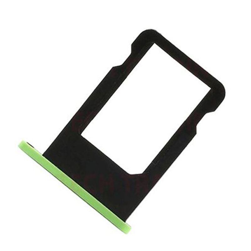 Micro SIM Card Holder For Iphone 5c High Quality SIM Card Slot Tray Holder Replacement Part Color Green BA1C104(China (Mainland))