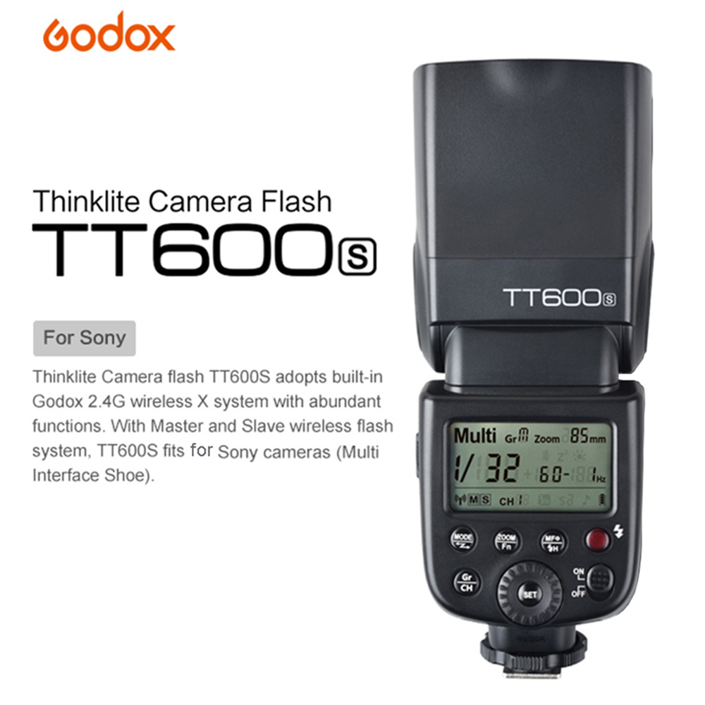 Godox TT600S Thinklite Master and Slave GN60 Camera Flash Speedlite Built-in 2.4G Wireless X System for Sony Series Cameras(China (Mainland))