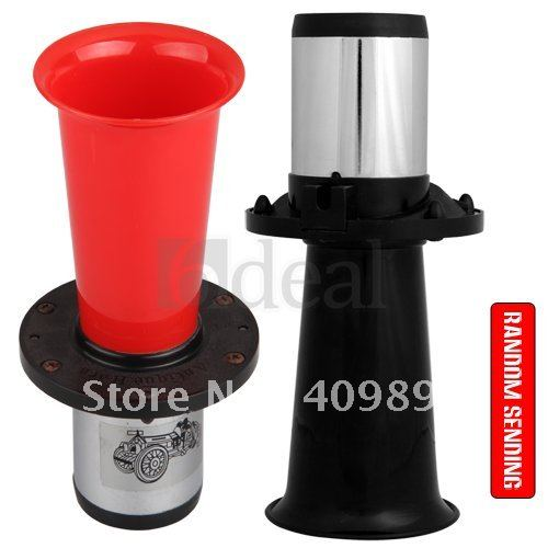 Red Classic Klaxon Auto Air Horn Car Trumpet 12V Loud(China (Mainland))