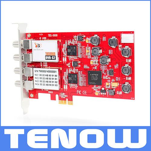 New Arrival 2015 TBS Card TBS6908 Professional DVB-S2 Quad Tuner PCIe Card Support CCM, ACM, VCM, Multi Input Stream(China (Mainland))