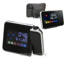 New Arrival Trustworthy Projection Digital Weather LCD Snooze Alarm Clock Color Display LED YL*SY0024A#M1(China (Mainland))