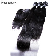 High Quality Grade 6A Peruvian Virgin Hair With Closure 3pcs Hair Bundles With Lace Closure Peruvian Straight With CLosure