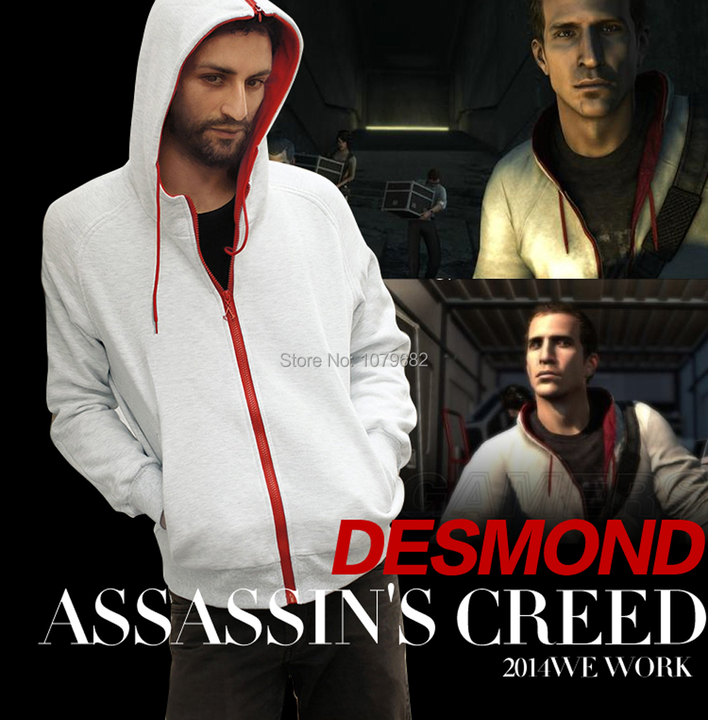 Assassin's / Assassins Creed Conner Kenway Hoodie Coat Jacket Men's cosplay costume Clothing overcoat / sport suit / sweatshirt