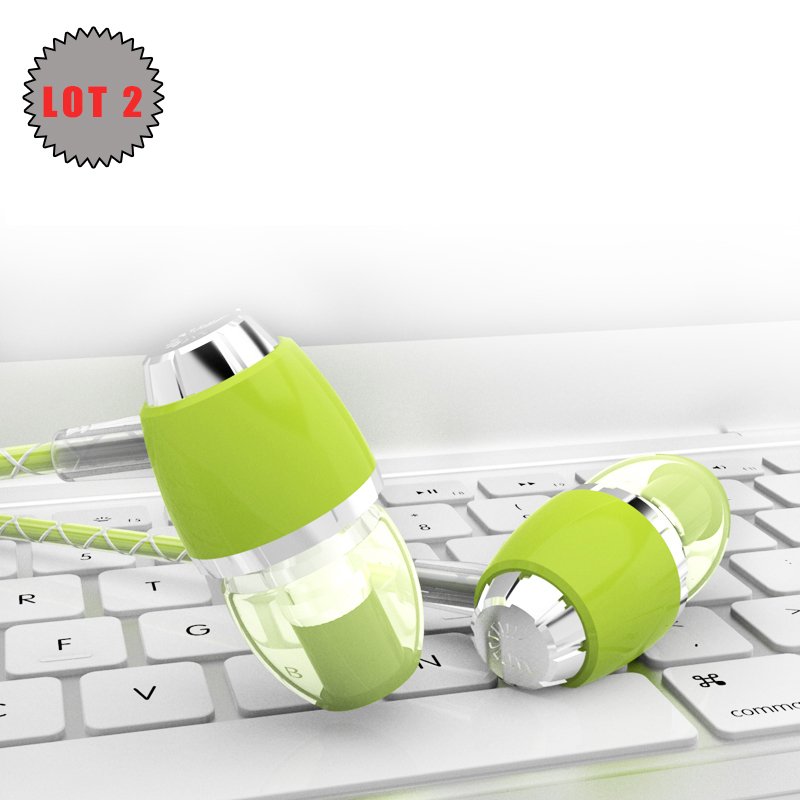 Lot 2 UiiSii U4 Earphones with Microphone Stereo Cute font b Earbud b font Surround Sound
