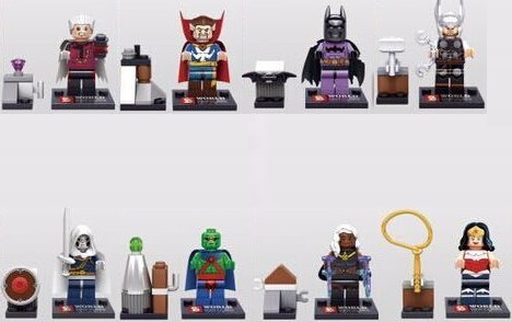 SY266 15Lot Building Blocks Super Heroes Avengers Minifigures Heroes Assemble Bricks Mini Figures Toys