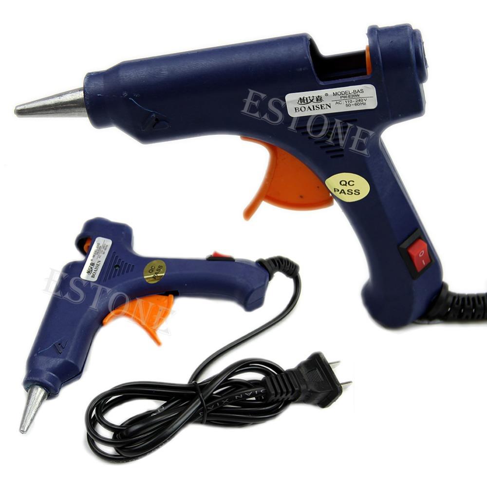 Гаджет  Free Shipping Professional Mini Electric Heating Hot Melt Glue Gun 20W New None Инструменты