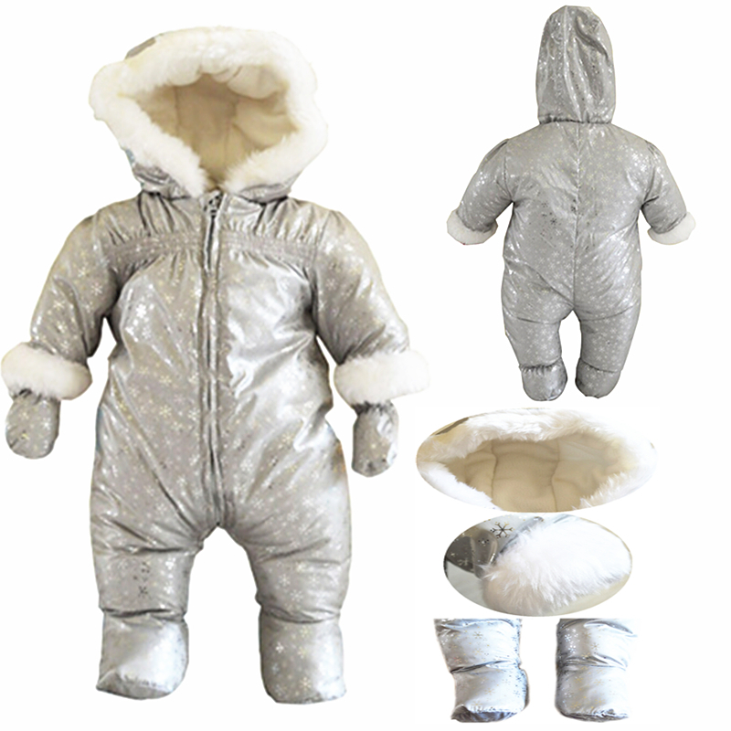 Baby Clothes French Original Winter Baby Boy/girl Warm Coveralls Newborn Infant Jumpsuit Snowflake Pattern Romper 3-6 Monthes(China (Mainland))