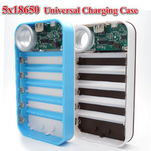 Real Universal DIY 5X 18650 LED 5V 1.0A Power Bank Case Kit DIY Cell Box Portable External Battery Charger for Mobile Phone