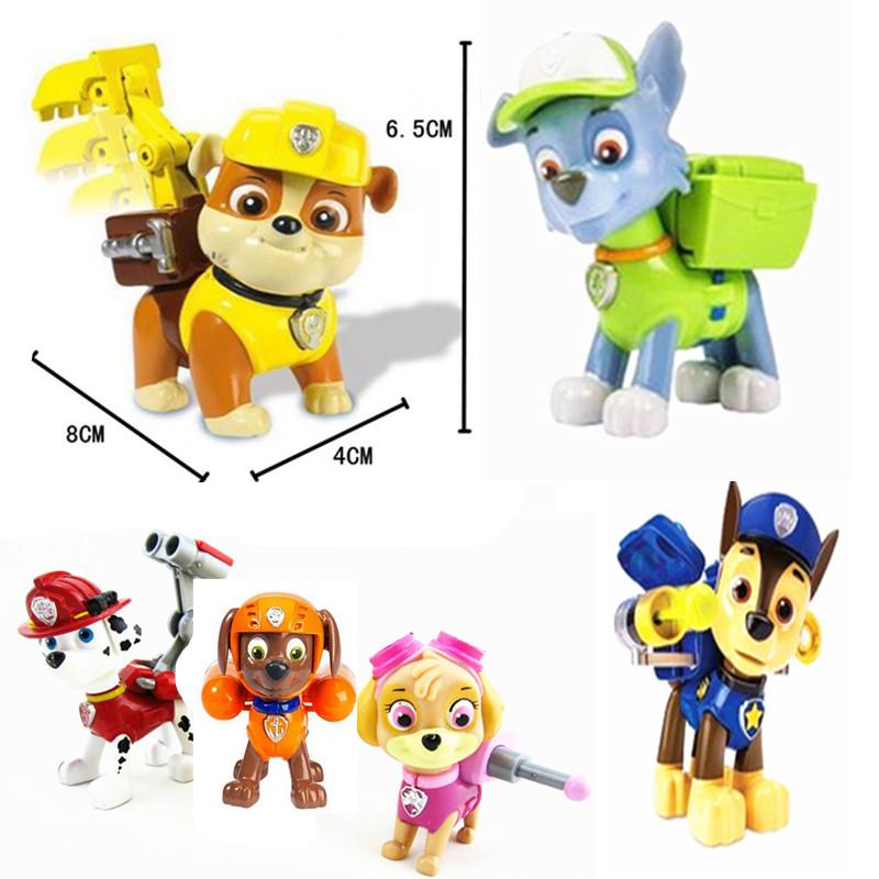Pop Juguetes patrulla canina toys Anime Action Figure Puppy Patrol Toy one piece Brinquedos Patrulla Canina