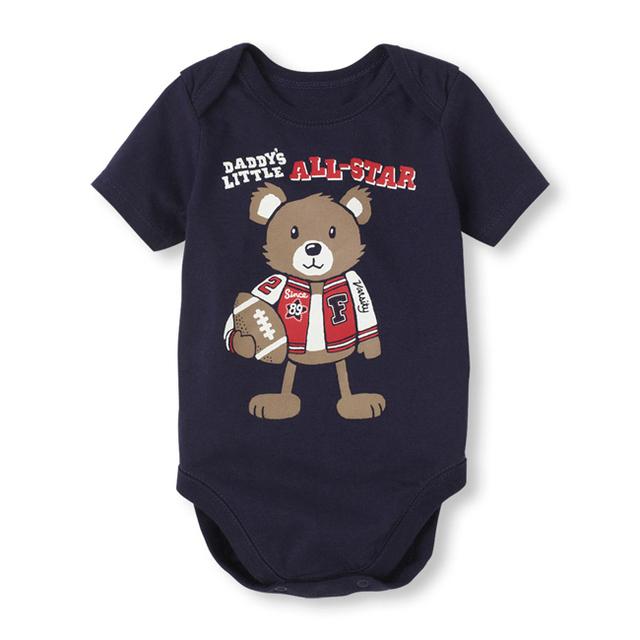 2016 новинка вмс новорожденного ребенка комбинезон одежда мальчиков одежда с коротким рукавом малыша один-шт комбинезон
