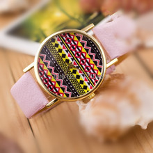Combination of gold frame shell geometric similarity striped circular dial strap means for colorful fashion watches